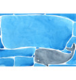 abstract whale swimming under sea vector image