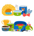 accessories for dogs and cats isolated vector image vector image