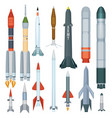army missile flight armour propeller rocket vector image vector image