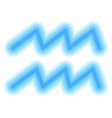 astrological symbol of aquarius paper cut vector image