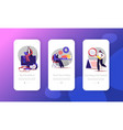 audit mobile app page onboard screen template vector image