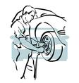 auto repair 4 vector image vector image