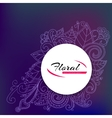 Banner with doddle pattern vector image vector image