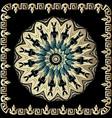 baroque 3d round mandala pattern ornamental vector image vector image