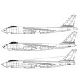 boeing b-47 stratojet vector image vector image