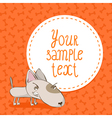 Card background with bull terrier vector image vector image