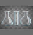 chemical laboratory beaker or test tubes vector image