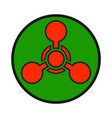chemical weapon warning hazard sign vector image vector image