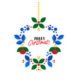 Christmas wreath scandinavian style flat