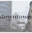 City Life in Perspective and text vector image vector image