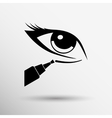 Closeup concealer stick to conceal under-eye vector image vector image