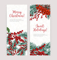 collection of vertical christmas banners with vector image