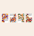 contemporary geometric banners abstract bauhaus