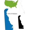Delaware map vector image vector image
