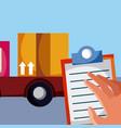 delivery cartoon service vector image
