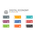 digital economy infographic 10 option line concept vector image
