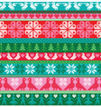embroidered border patterns vector image vector image