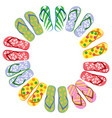 flip flops circle with copy space vector image
