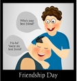 Friendship Day Two best friends vector image vector image