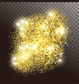 glowing gold sparkles or shiny particles vector image