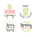 Hand Drawn spring lettering Easter Holidays vector image vector image