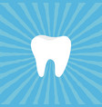 healthy tooth icon oral dental hygiene children vector image vector image