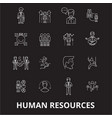 human resources editable line icons set on vector image vector image