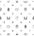 intelligence icons pattern seamless white vector image vector image