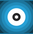 isolated tire flat icon wheel element can vector image vector image