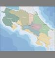 map costa rica vector image