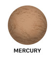 mercury planet icon realistic style vector image