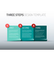 one two three - paper progress steps options vector image vector image