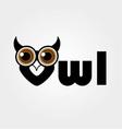 Owl- a symbol of wisdom vector image vector image