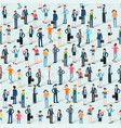 people crowd seamless vector image