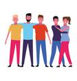 people friends cartoon vector image vector image