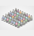 people sitting in chairs on audience vector image vector image