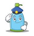 police liquid soap character cartoon vector image vector image