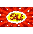 Pop art comic sale discount promotion banner vector image vector image