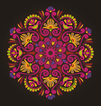 Radial geometric floral pattern vector image vector image