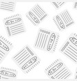 realistic notepad with spiral seamless pattern vector image vector image