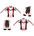 red and black style sports t-shirt vector image vector image