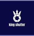 royal king crown queen shutter lens aperture vector image