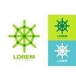 Rudder logo icon logo Navigation symbol vector image vector image