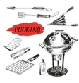Set of barbecue utensils vector image vector image