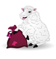 Sheep with a bag vector image