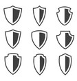 shield icons set placed on white background vector image vector image