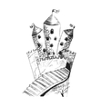 Sketch of fairy castle hand drawing with pencil vector image vector image