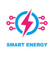 smart energy concept logo template vector image