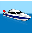 Speed boat vector image vector image