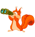 Squirrel observer vector image vector image